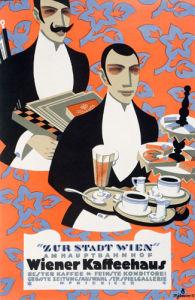 Wiener Kaffeehaus, 1915 by Max Schwarzer