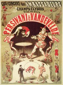 Persivani and Vandevelde - Acrobats, 1875 by Jules Cheret