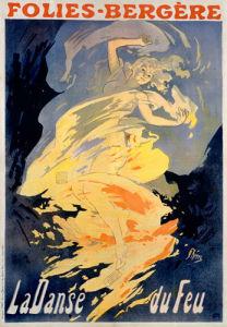 Folies-Bergeres - La Danse du Feu, 1895 by Jules Cheret