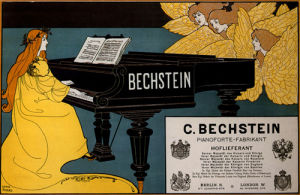 Bechstein Pianos, 1898 by Louis Rhead