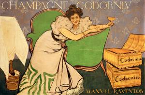 Champagne Codorniu, 1898 by Ramon Casas