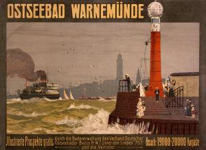 Ostseebad Warnemunde, 1910 by Paul Wallat