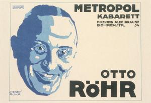 Metropole Kabarett - Otto Rohr, 1918 by Jo Steiner