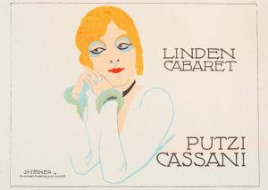 Linden Cabaret - Putzi Cassani, 1919 by Jo Steiner