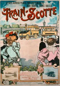 Train-Scotte Steam Bus, 1897 by Henri Gray