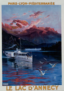 Le Lac d'Annecy, 1900 by Frederic Hugo d'Alosi