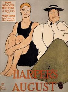Harper's, August 1896 by Edward Penfield