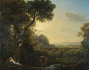 Landscape with Narcissus and Echo by Claude