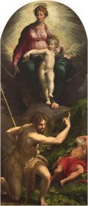 The Madonna and Child with Saints John the Baptist and Jerome by Parmigianino
