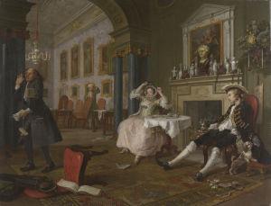 Marriage A-la-Mode: 2, The Tête à Tête by William Hogarth