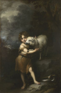 The Infant Saint John with the Lamb by Bartolomé Esteban Murillo