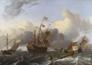 The Eendracht and a Fleet of Dutch Men-of-war by Ludolf Bakhuizen
