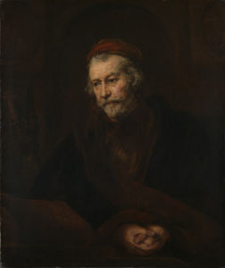 An Elderly Man as Saint Paul by Rembrandt