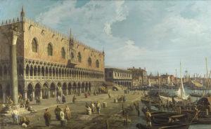 Venice: The Doge's Palace and the Riva degli Schiavoni by Giovanni Canaletto