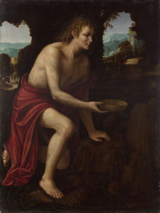 Saint John the Baptist in the Desert by Martino Piazza