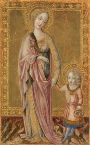 Saint Dorothy and the Infant Christ by Francesco di Giorgio