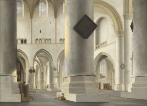 The Interior of the Grote Kerk at Haarlem by Pieter Saenredam