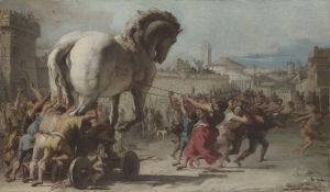 The Procession of the Trojan Horse into Troy by Giovanni Domenico Tiepolo