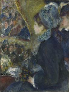 At the Theatre (La Première Sortie) by Pierre Auguste Renoir