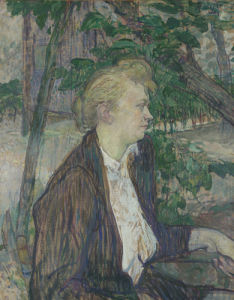 Woman seated in a Garden by Henri de Toulouse-Lautrec
