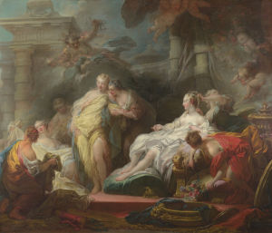 Psyche showing her Sisters her Gifts from Cupid by Jean-Honoré Fragonard