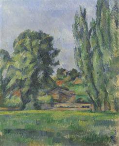 Landscape with Poplars by Paul Cezanne