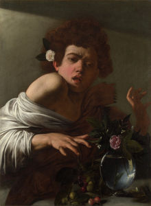 Boy bitten by a Lizard by Michelangelo Merisi da Caravaggio