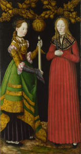Saints Genevieve and Apollonia by Lucas Cranach the Elder