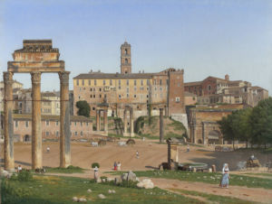 View of the Forum in Rome by Christoffer-Wilhelm Eckersberg