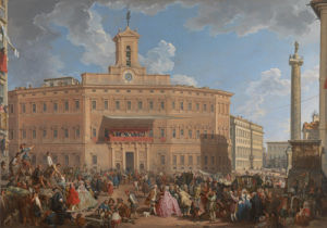 The Lottery in Piazza di Montecitorio by Giovanni Paolo Panini