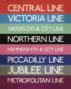 London Tube Lines by Transport for London