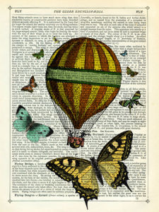 Butterflies and Balloon by Marion McConaghie