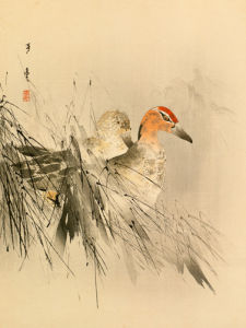Ducks in Reeds by Anonymous Chinese Artist