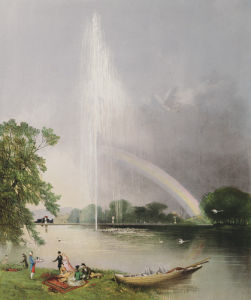 The Great Fountain, Enville Gardens by Edward Adveno Brooke