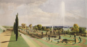 Lower Terrace Garden, Worsley Hall by Edward Adveno Brooke