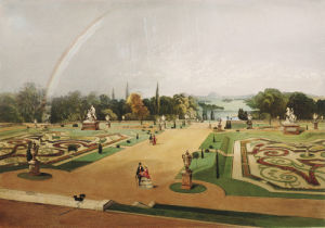 View in the Gardens of Eaton Hall by Edward Adveno Brooke