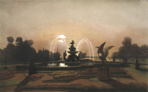 Dragon Fountain, in the Gardens at Eaton Hall by Edward Adveno Brooke