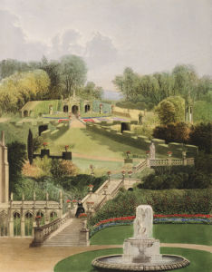 The Garden on the Hill Side, Castle Combe by Edward Adveno Brooke