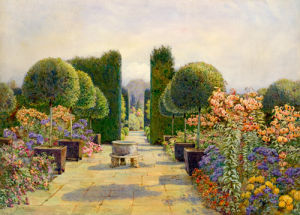 The Paved Court, Dyffryn by Edith Helena Adie
