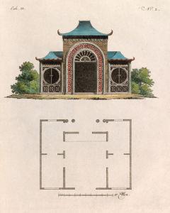Oriental Garden Room and Plan by Johann Gottfried Grohmann