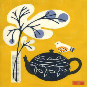 Yellow Bird on Teapot by Fiona Howard