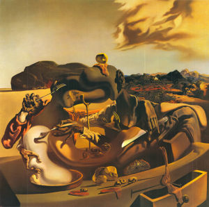 Autumnal Cannibalism by Salvador Dali