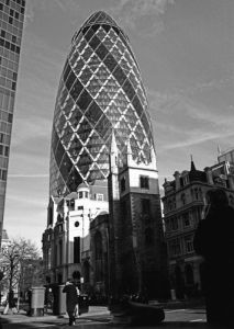 Gherkin traders, City of London by Niki Gorick