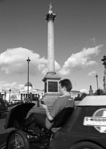 Mobile phone-call, Trafalgar Square by Niki Gorick