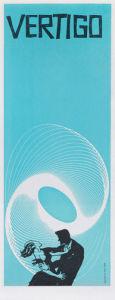 Vertigo (small blue) by Saul Bass