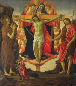 The Trinity with St Mary Magdalene and St John the Baptist, the Archangel Raphael and Tobias by Sandro Botticelli
