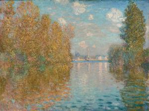 Autumn effect at Argenteuil by Claude Monet