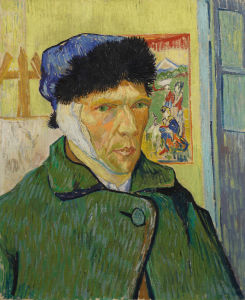 Self portrait with bandaged ear by Vincent Van Gogh