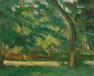 L'Etang des Soeurs Osny near Pontoise by Paul Cezanne