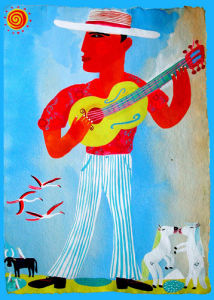 Camargue Guitarist by Christopher Corr